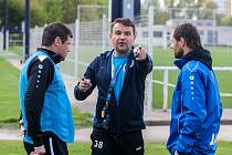 Trénink fotbalistů FC Hradec Králové.
