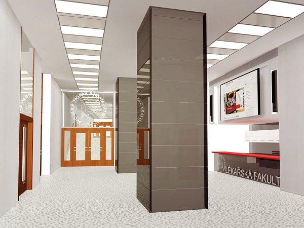 Vizualizace nových prostor fakulty.