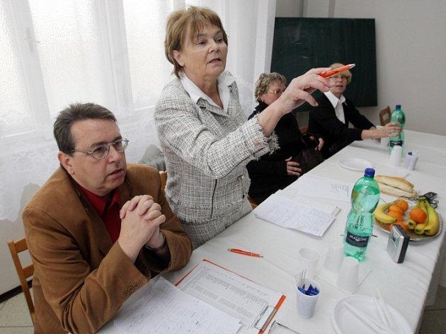 Povolební schůzka ČSSD.