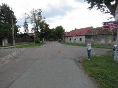 Fotografie místa nehody.