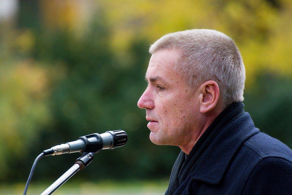 Na shromáždění promluvil i starosta Vysoké nad Labem Jiří Horák