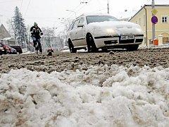 Dopravní situace v Hradci Králové.