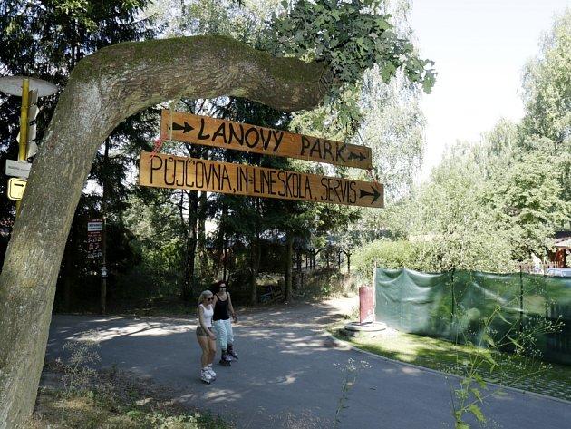 Štěrková cesta u Stříbrného rybníku vedoucí k asfaltovému okruhu v hradeckých městských lesích.