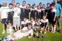 Fotbaloví mladší žáci TJ Sokol Hořiněves.