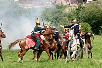 Rekonstrukce rakousko-pruské bitvy na Chlumu u Hradce Králové z roku 1866.
