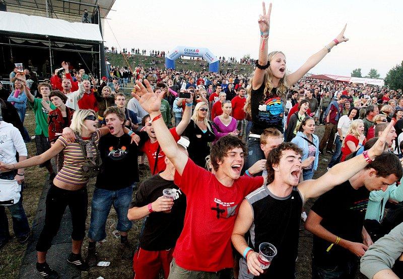 Návštěvníci Rock for People 2008