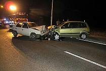 Dopravní nehoda u obce Blešno.