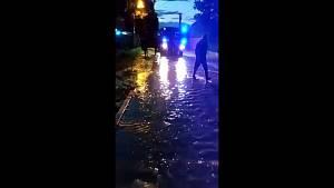Povodeň v Káranicích na Hradecku