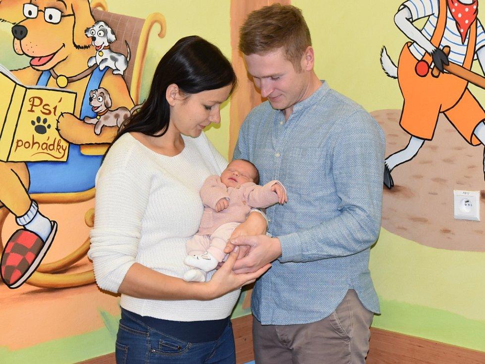 SOFIE LAKSAROVÁ se narodila světa 6. listopadu v 11.37 hodin. Měřila 50 cm a vážila 3000 g. Radost udělala rodičům Michaele a Tomáši Laksarovým z Hradce Králové. Doma se těší bráška Matěj.