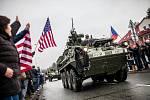 "Americký konvoj ""dragounské jízdy"" na Královéhradecku."