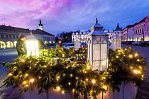 Vánoční výzdoba měst na Královéhradecku (Nové Město nad Metují).