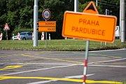Oprava okružní křižovatky na ul. Brněnská v Hradci Králové.