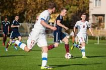 Přípravné fotbalové utkání mládežnických reprezentačních výběrů U18: Česká republika - Skotsko.