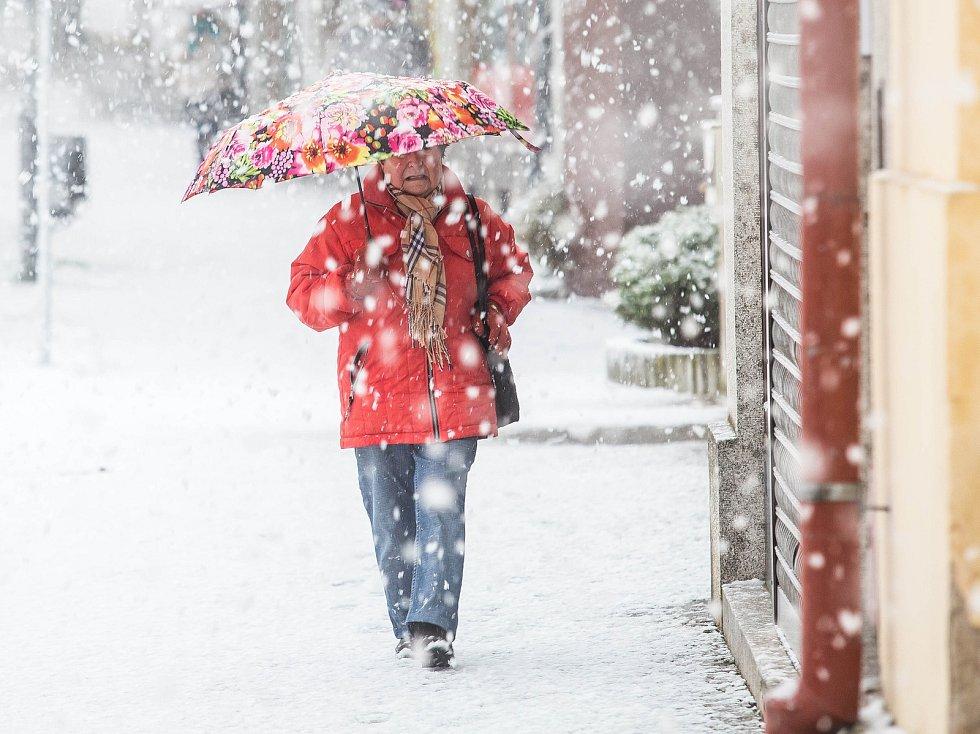 Sněhová kalamita na Královérahdecku.