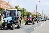 Traktoriáda v Novém Bydžově.