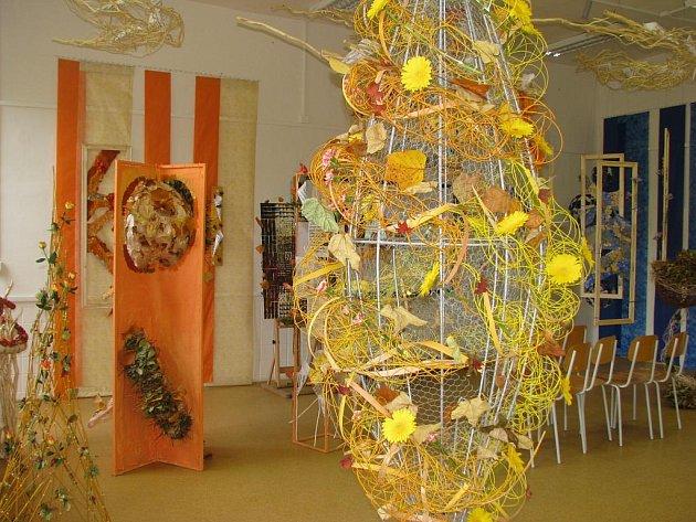 Výstava floristická školy v Hradci Králové.