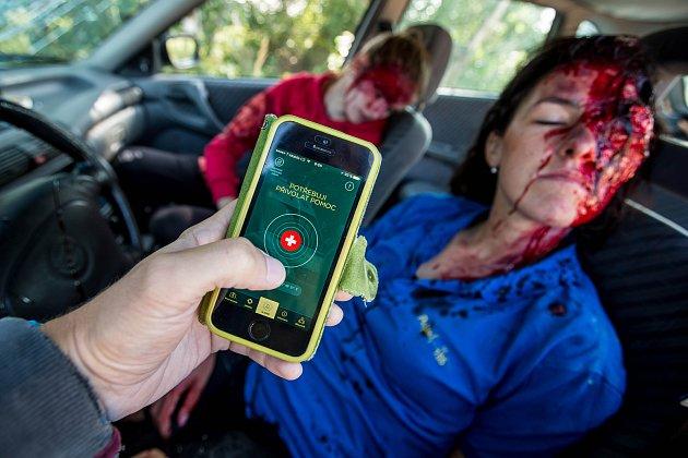 Názorná ukázka aplikace Záchranka na mobilním telefonu v praxi.