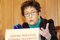 Jiřina Šiklová, volební lídr Strany zelených v Královéhradeckém kraji.