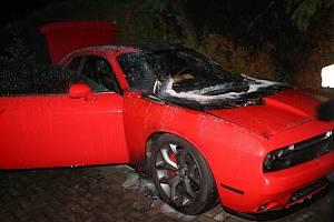 Při požáru osobního vozidla byla způsobena škoda 750 tisíc korun.
