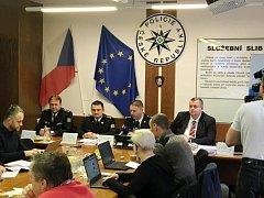 Bilanční tisková konference královéhradecké policie za rok 2017.