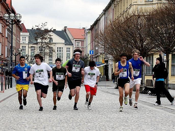 Studentský maraton v Hradci Králové ve středu 14. dubna 2010.