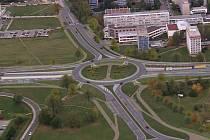 Původní vizualizace projektu mimoúrovňové křižovatky Mileta v Hradci Králové.