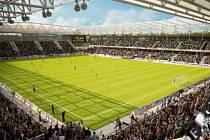 Nová aréna? Takto měl vypadat vnitřek fotbalového stadionu, pokud by byl dokončen projekt, ve kterém jsou zainteresovány společnosti ECE a HB Reavis.
