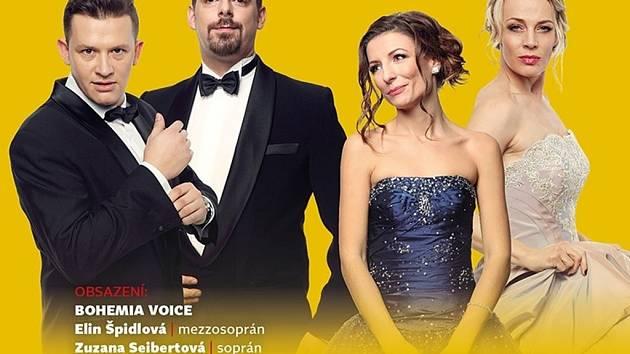 Kvarteto Bohemia Voice vystoupí s Filharmonií Hradec Králové na společném koncertě.