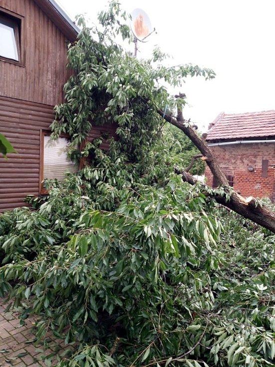 Následky středeční bouřky v Královéhradeckém kraji - Hradec Králové