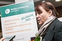 Ombudsmanka Anna Šabatová během návštěvy v Hradci Králové.