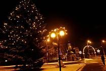 Vánoční výzdoba v Hradci Králové.