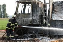 Požár nákladního auta