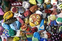 Malované kamínky v Žižkových sadech