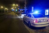 Strážníky zastavené nabourané vozidlo.