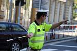 Policisté absolvovali školení, kterak řídit provoz v křižovatce.