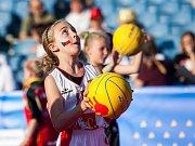 Zahájení mistrovství Evropy v basketbalu žen v Hradci Králové.