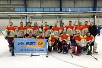 Hokejový turnaj veteránů v Hradci Králové.
