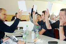 Hlasování při konferenci.