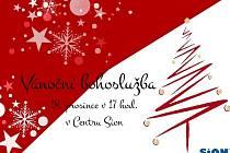 Pozvánka na Vánoční bohoslužbu hradeckého Centra Sion.