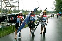 Zlatá česká hlídka Tomáš Rak (zleva), Stanislav Ježek, Michal Jáně.