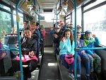 Exkurze pouchovských žáků do hradeckého dopravního podniku.