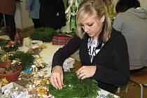 Prodejní vánoční výstava floristů (sobota 27. listopadu 2010).