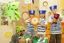 Projekt Lodí kolem světa v hradecké mateřské škole Montessori.
