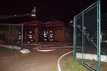 Požár rodinného domu v Bělči nad Orlicí.