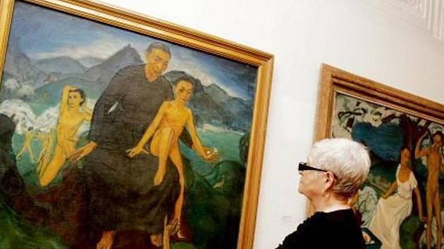 Výstava Sen o ženě, vlasti a umění autorky Augusty Nekolové v hradecké Galerii moderního umění.