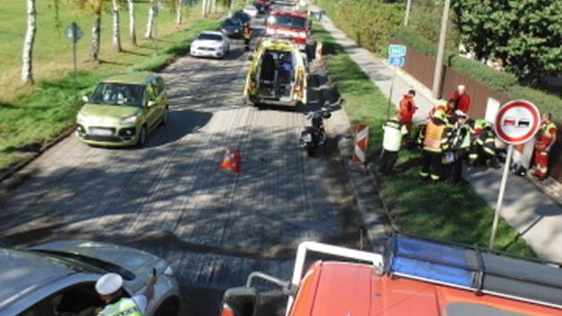 Průjezd Sadovou brzdila havárie motorky.