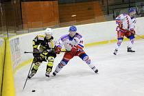 Krajská hokejová liga: HC Náchod - Stadion Nový Bydžov.