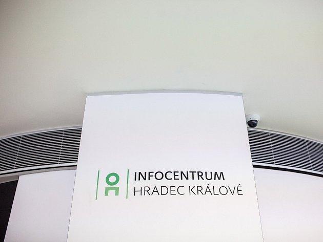 Městské informační centrum na Eliščině nábřeží v Hradci Králové.