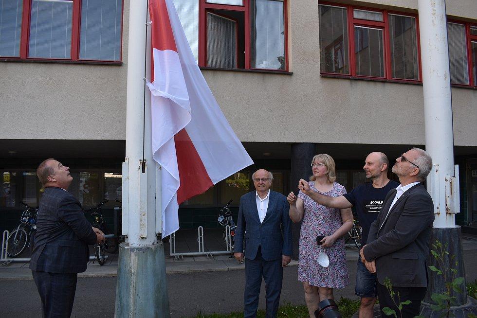 O vyvěšení běloruské vlajky rozhodli minulý týden hradečtí zastupitelé.