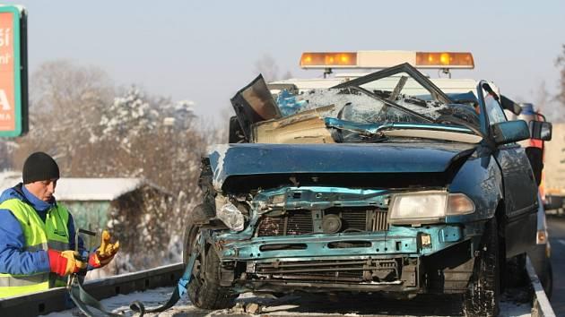 Vážná dopravní nehoda 9. ledna 2009, Koliba u Hradce Králové (směr Vysoké Mýto)